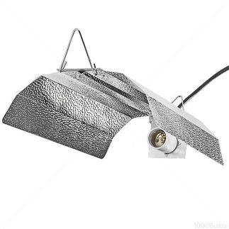 Wing Grow Light Reflector - MH or HPS - 15 in. Aluminum Wing - Mogul Socket - Operates up to 1000 Watt Lamp - Ballast and Lamp S