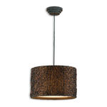 Uttermost 21103 - Drum Pendant Light - Knotted Rattan
