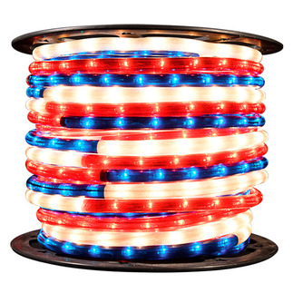 Red, White, and Blue Rope Light | 150 ft. Spool