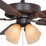 Fanimation BP210OB1 - 52 in. - Aire Decor Ceiling Fan - (5) 20.7 in. Reversible Cherry and Walnut Blades - Oil-Rubbed Bronze Finish - Amber Frosted Shade - Includes Light Kit